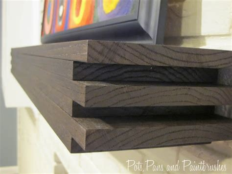 modern floating mantel shelf remodelaholic