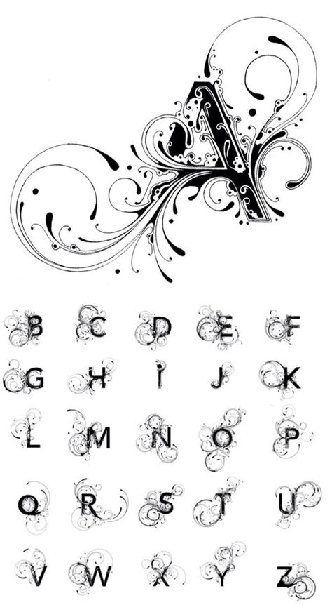 tattoo fonts initials 196 best images about monograms and letters on
