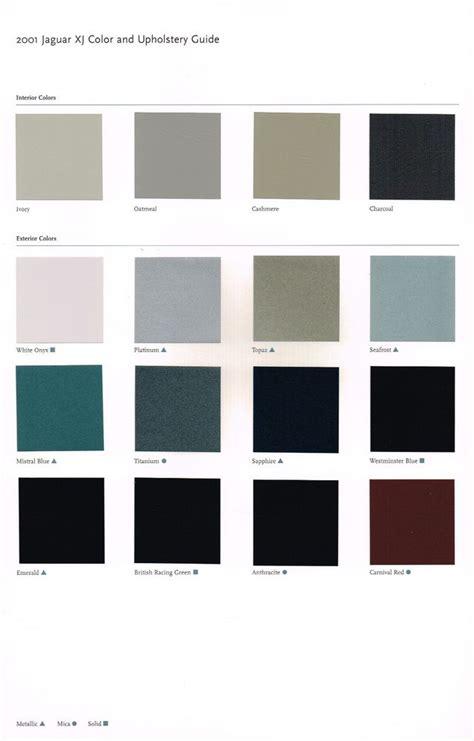 2001 jaguar xj color chart chip paint sle brochure xj8 xjr vanden plas 8 r l ebay