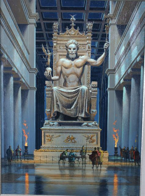 Ancient L by Research Of The Ancient Seven Wonders The Statue Of Zeus