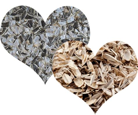 recycling sunflower seed shells to biomass pellets or feed