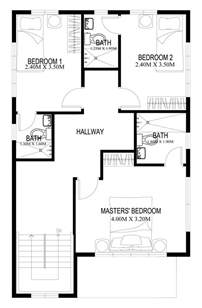 two story house plans series php 2014004 pinoy house plans