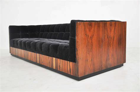 milo baughman rosewood case sofa milo baughman rosewood case sofa at 1stdibs