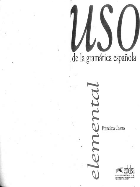 uso de la gramatica uso de la gramatica espanola elemental pdf