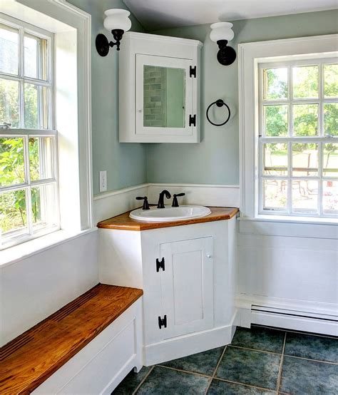 Corner Bathroom Sink Cabinet Small Bathroom Corner Sink Vanity Breeds Picture