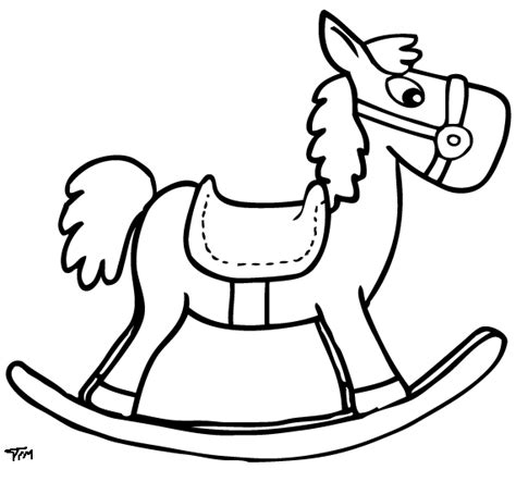 coloring pages rocking horse rocking horse coloring pages