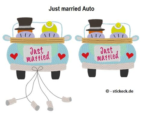 Just Married Auto Bilder by Just Married Auto Stickeck