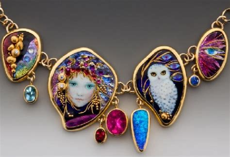 Handmade Jewelry Artists - mona and alex szabados enamel jewelry kaleidoscope