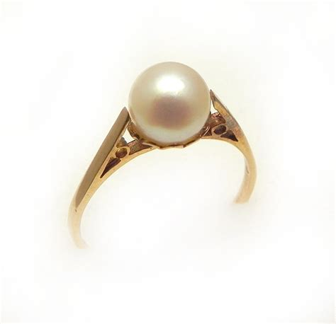 Pearl Ring by Celticfinds Vintage Jewelry Antique Engagement Rings And