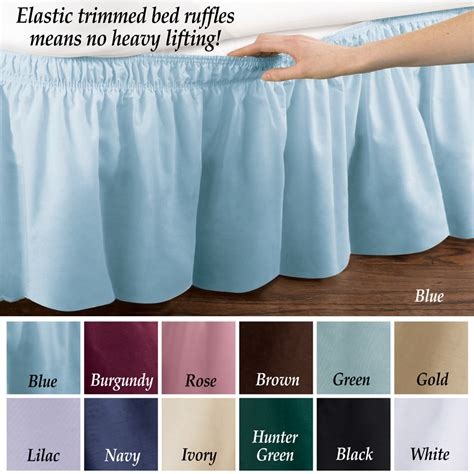 elastic bed skirts elastic bed wrap ruffle bed skirt