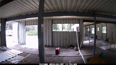 container home interior structure modification