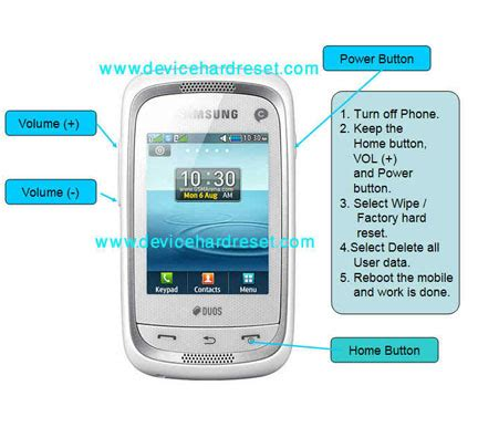 reset factory samsung duos how to hard reset samsung ch neo duos c3262