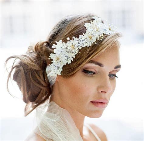 Wedding Hair With Ribbon by Wedding Lace Halo Lace Hair Vine Wrap Bohemian Wedding