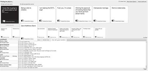 pretend youre xyzzy cards  humanity game thread tfmapsnet