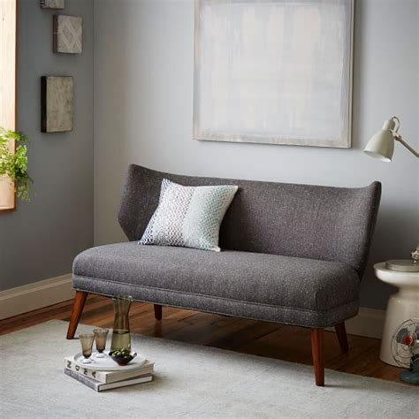 settee west elm retro wing settee west elm