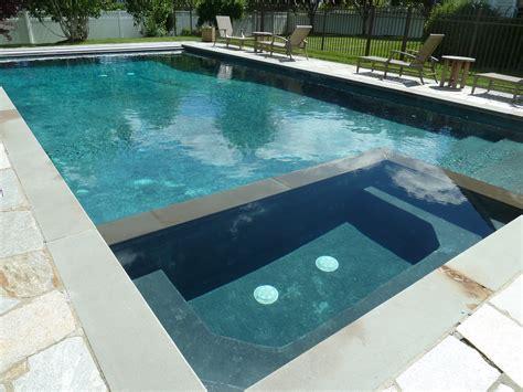 pool und spa rectangle gunite in ground swimming pool and spa with