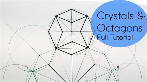 draw pattern using geometric shapes crystal octagons how 2 draw geometric patterns