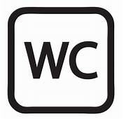 WC Sign Symbol Decal Vinyl Sticker  Signs