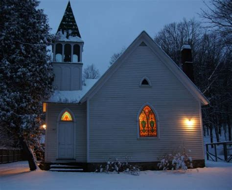 house in the snow cottekill church in the snow hooked on houses