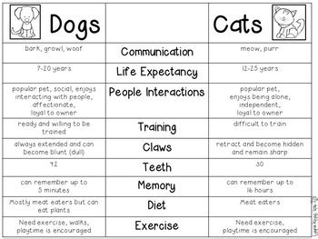 Compare And Contrast Essay Cats And Dogs by Compare Cats And Dogs Cats