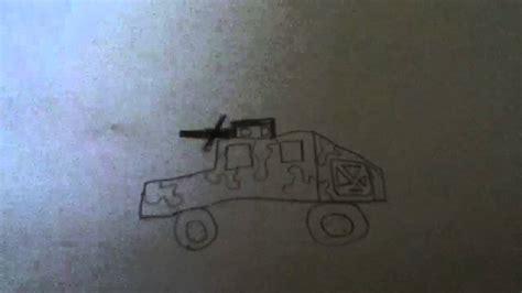 humvee drawing how to draw a humvee