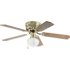 schoolhouse ceiling fan 52 quot hugger mount ceiling fan polished brass schoolhouse