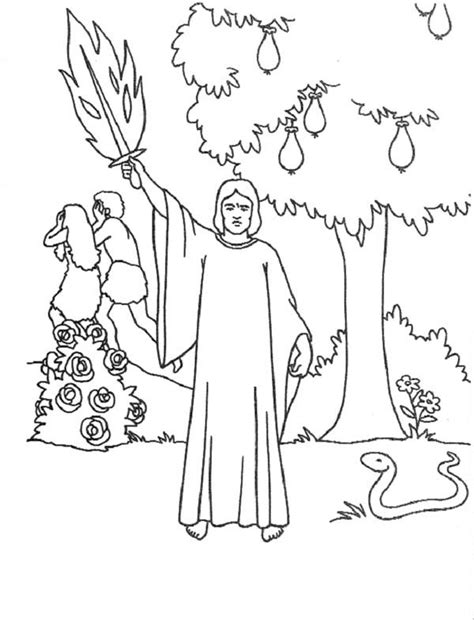 cherubims  flaming sword guarding tree  knowledge