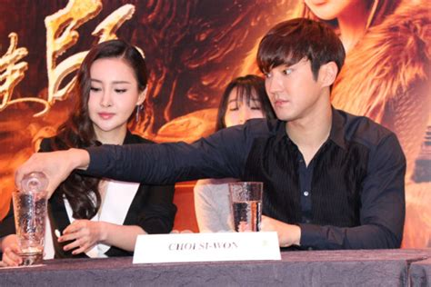 mika wang film super junior s choi siwon on quot dragon blade quot star tour in