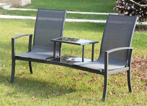Patio Table Ls Foxhunter Outdoor Garden Seat Patio Companion Glass Table Ls01 Black Ebay