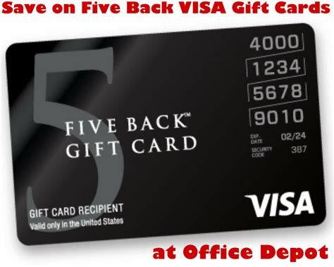 Office Depot Visa Gift Card - save on five back visa gift cards at office depot od15back