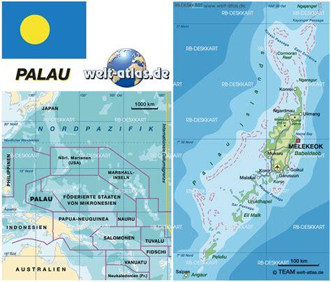 palau map palau regionen karte