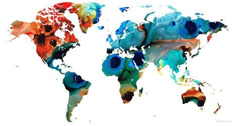 kartata na sveta prez ochite na khudozhnitsite