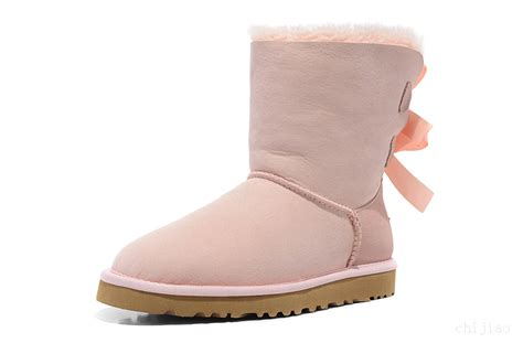 Light Pink Bailey Bow Uggs by Ugg Australia Bailey Bow Boots Light Pink