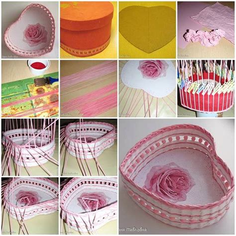 How To Make Paper Basket For - diy woven paper shaped basket