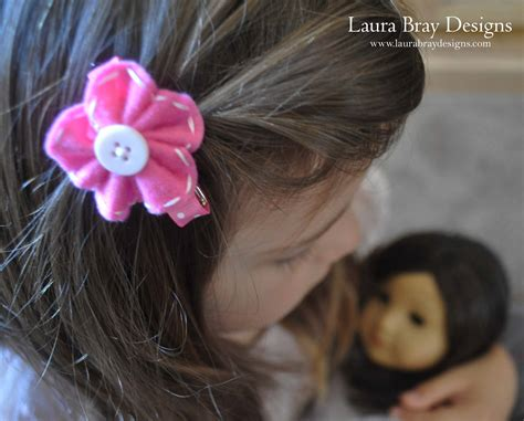 Flower Hair Barrette diy felt flower barrettes kunin felt