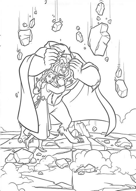 coloring book pages and the beast free printable and the beast coloring pages for