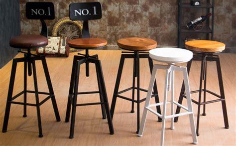 vintage retro industrial bar stools vintage retro industrial look rustic swivel kitchen bar