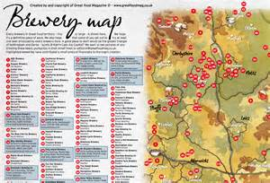 map of every brewery in the midlands 2012 great food club
