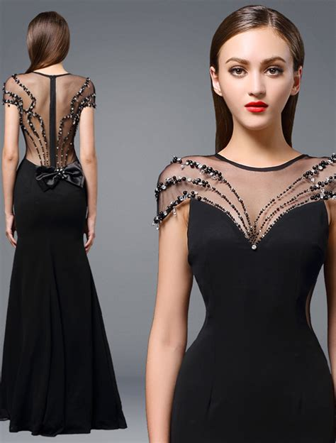 avondjurk cocktail dress 2016 atemberaubende rundhalsausschnitt backless b 246 rdelndes