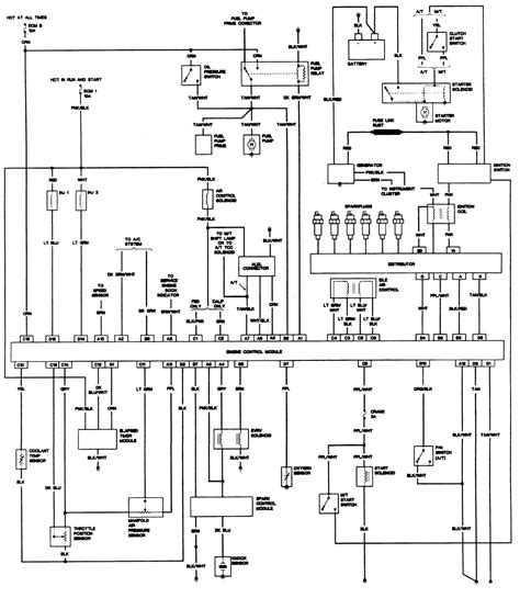 1989 chevy s10 ignition switch wiring diagram wiring