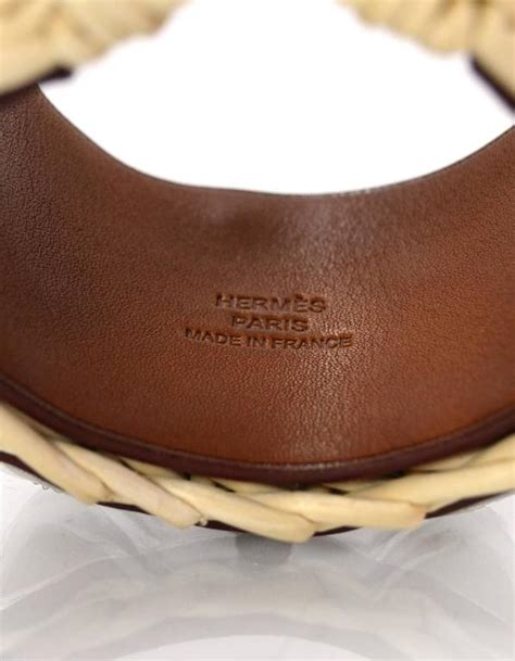 Hermes RARE Osier Picnic Medor Wicker CDC Cuff with Box For Sale at 1stdibs