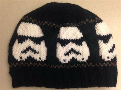 black and white knit hat pattern pattern stormtrooper star wars inspired white black