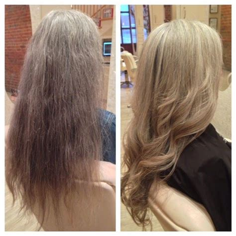 how to blend gray hair with lowlights grey gray hair with lowlights hairstylegalleries com