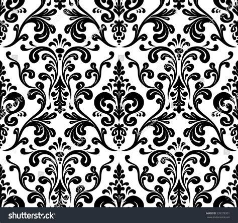 black and white elegant pattern vector seamless elegant damask pattern black stock vector