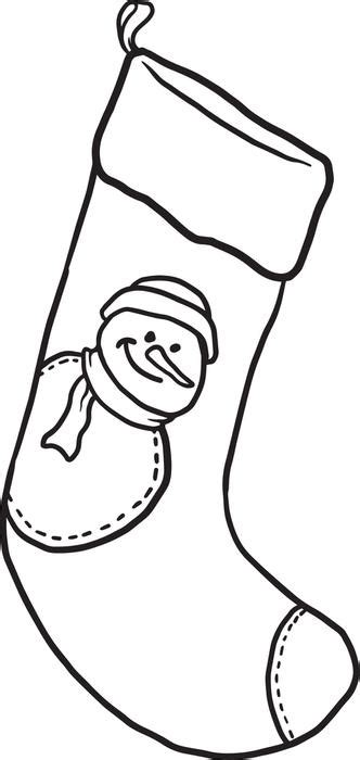 coloring page stockings plain christmas stocking coloring page