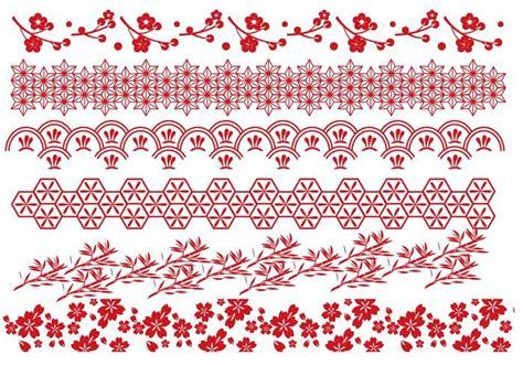 Notes Motif Batik A5 Kiky japanese border vectors 113269 welovesolo