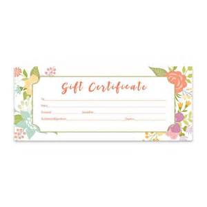 Printable Blank Gift Certificate Template by Floral Gift Certificate Flowers Premade Gift