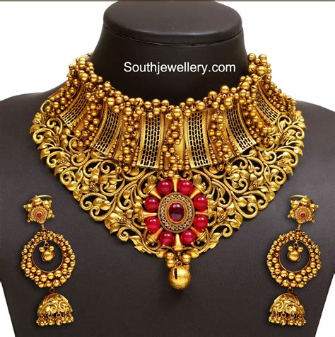 Gold Jewellery by Gold Necklace Jewelry Designs Jewellery Designs