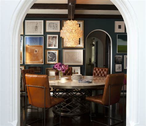 nate berkus dining room orange leather tufted dining chairs eclectic dining room nate berkus design