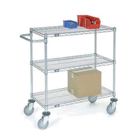 Wire Shelf Cart by Nexel Chrome 18x60x40 Adjustable Wire Shelf Cart Sc18603